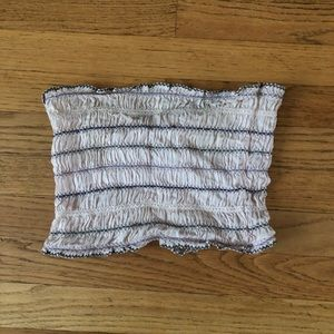 Free people rouched tube top